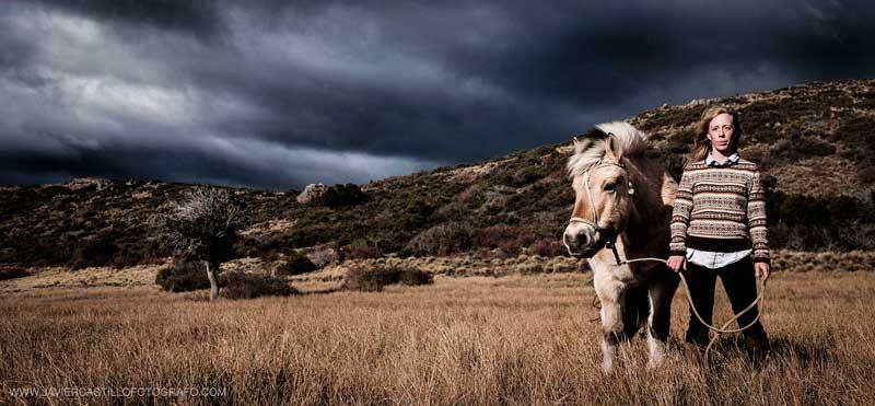 Stevie Anna at the estancia (ranch) of Carol Jones. Photo: Javier Castillo
