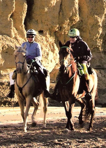 Lin and her husband and riding partner, Jim, enjoy hours together on the trail.