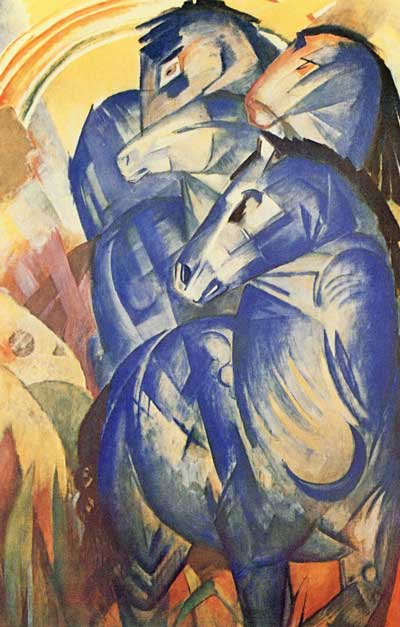 Franz March's The Tower of Blue Horses has been missing since the 1940s. It disappeared following the collapse of Nazi Germany. Photo: Public domain via Wikimedia Commons