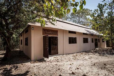 The new Veterinary Hospital in Gambia, named in honor of British vet Derek Knottenbelt.