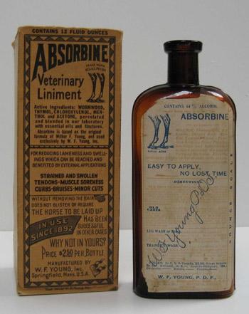Absorbine Veterinary Liniment,