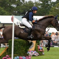 Allison Springer and Arthur in action at Burghley Horse Trials in Great Britain in 2012. © Mike Bain