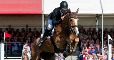 Andrew Nicholson and Nereo winning the 2017 Badminton Horse Trials.