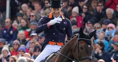 Christopher Burton and Graf Liberty lead after the dressage phase at the Badminton Horse Trials.