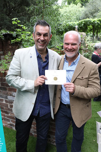Designers Jonathan Smith and Adam Woolcott with their gold medal.