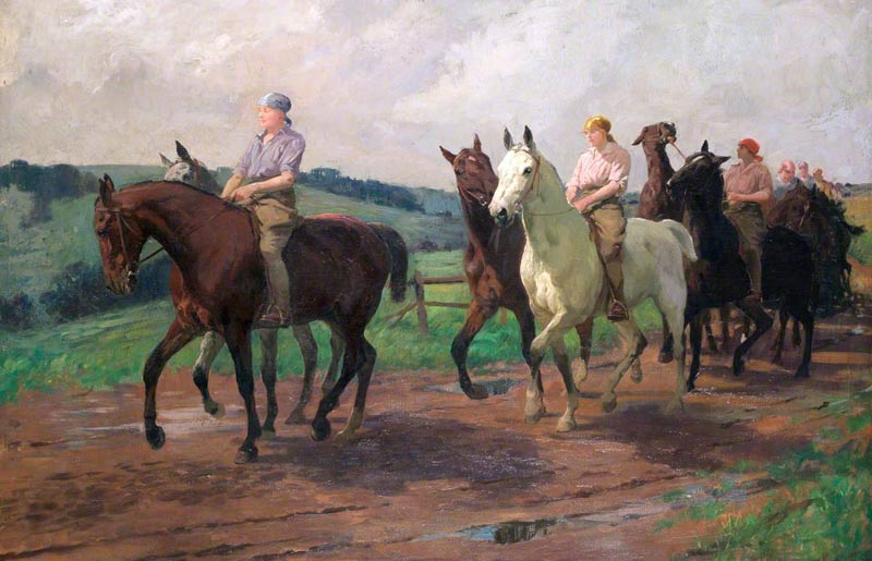 Lucy Kemp-Welch: The Ladies' Army Remount Depot, Russley Park, Wiltshire.