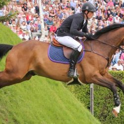 Trevor Breen's Adventure De Kannan is to be officially retired at Hickstead next month. © Samantha Lamb
