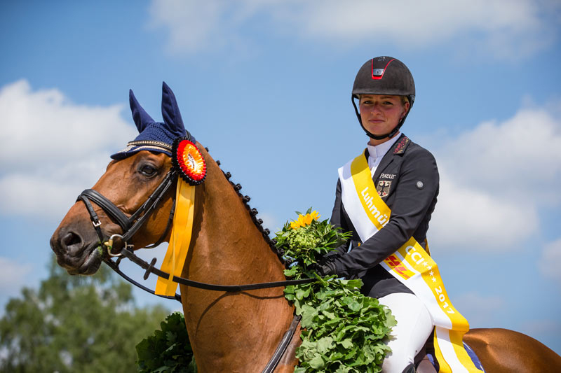 Luhmühlen CCI 4* winners Julia Krajewski and Samourai du Thot.