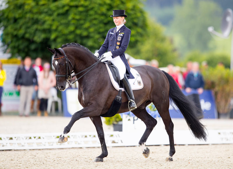 Sanneke Rothenberger and Deveraux at theEuropean Dressage Championships last year.