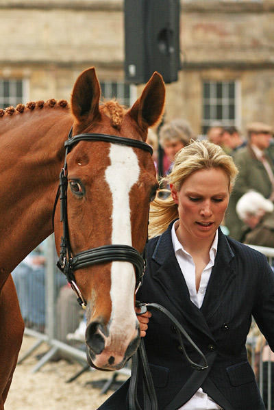 Zara Phillips and Toytown at the trot-up at Badminton in 2009.