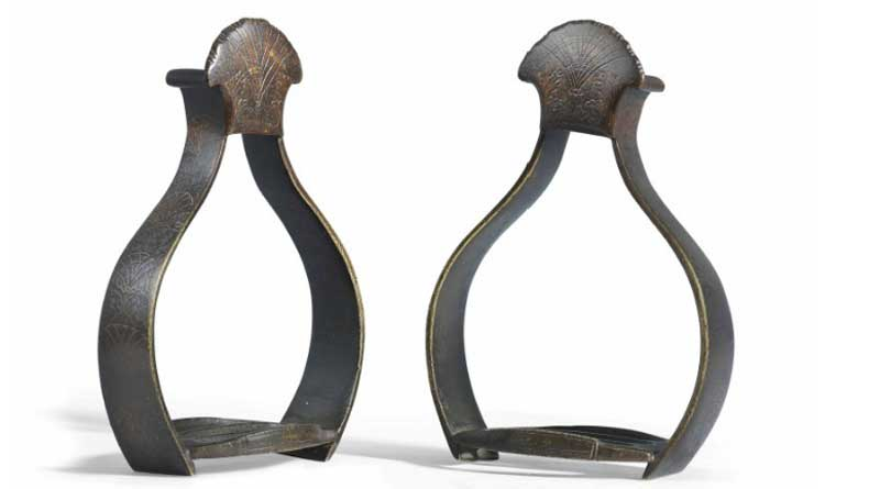 The stirrups were used for the coronation of Britain's King Charles I. Photos: Christie's