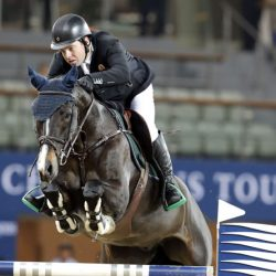 Leading Irish showjumper Cian O'Connor and Callisto. © Stefano Grasso/LGCT