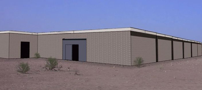 An architectural rendering of the types of shade shelters that Brooke will construct in two market areas. They may not be beautiful, but they're very practical, economical to build, and easy to maintain. Similar previously constructed shade shelters in other market areas have been very effective in lowering the mortality rates of the animals who have access to them.