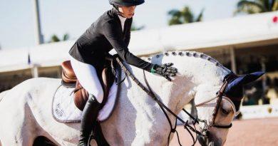 HannahSelleckand Belora de Walyro at the Winter Equestrian Festival in Wellington, Florida.