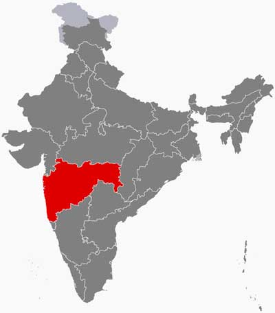 The cases have been reported in the western Indian state of Maharashta. Map: Filpro CC BY-SA 4.0 via Wikimedia Commons