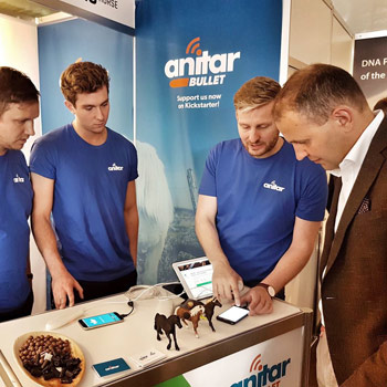 The Anitar team talk to Iceland president Guðni Th Jóhannesson about the Anitar Bullet.
