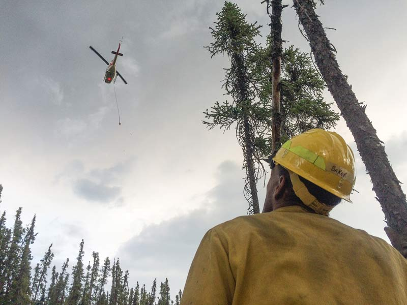 BLM crews battle another wildfire.
