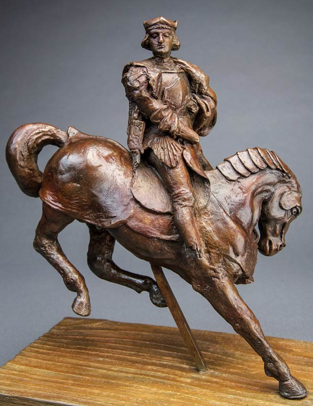 The Horse and Rider, the only casting taken directly from the from Leonardo da Vinci's c. 1510 beeswax figure and its original mold, is now in the United States and the historic sculpture will be going up for auction through Guernsey's this fall.