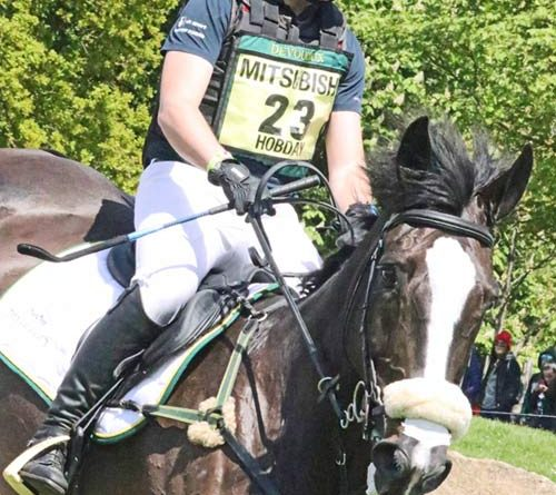 Ben Hobday (GBR) and Harelaw Wizard.
