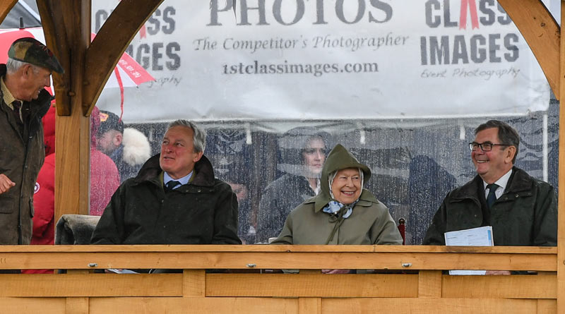 The Queen kept a close eye on her horses on the first day of the Royal Windsor Horse Show on Wednesday. © RWHS
